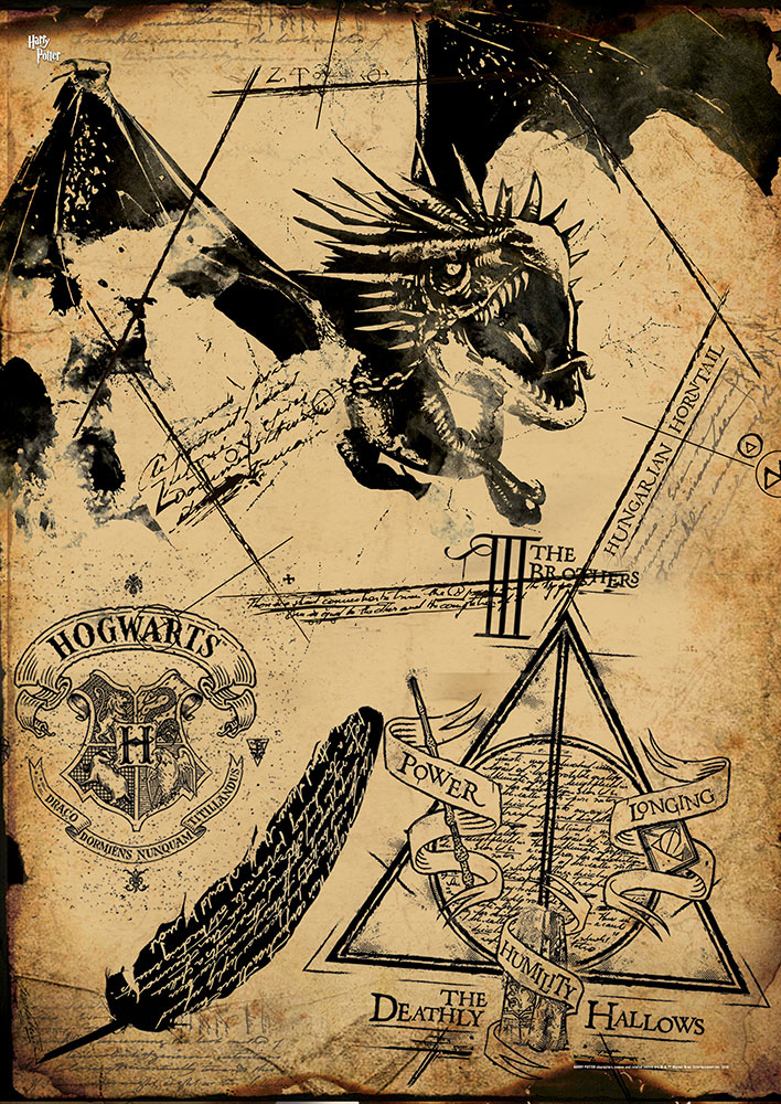 Harry Potter Deathly Hallows Collage Mightyprint Wall