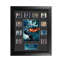 Relive the epic middle entry of Christopher Nolan's Batman Trilogy, The Dark Knight, with this limited edition of 2500 framed FilmCells™ presentation featuring an image collage of Batman and the Joker™ and ten different 35mm movie cells.