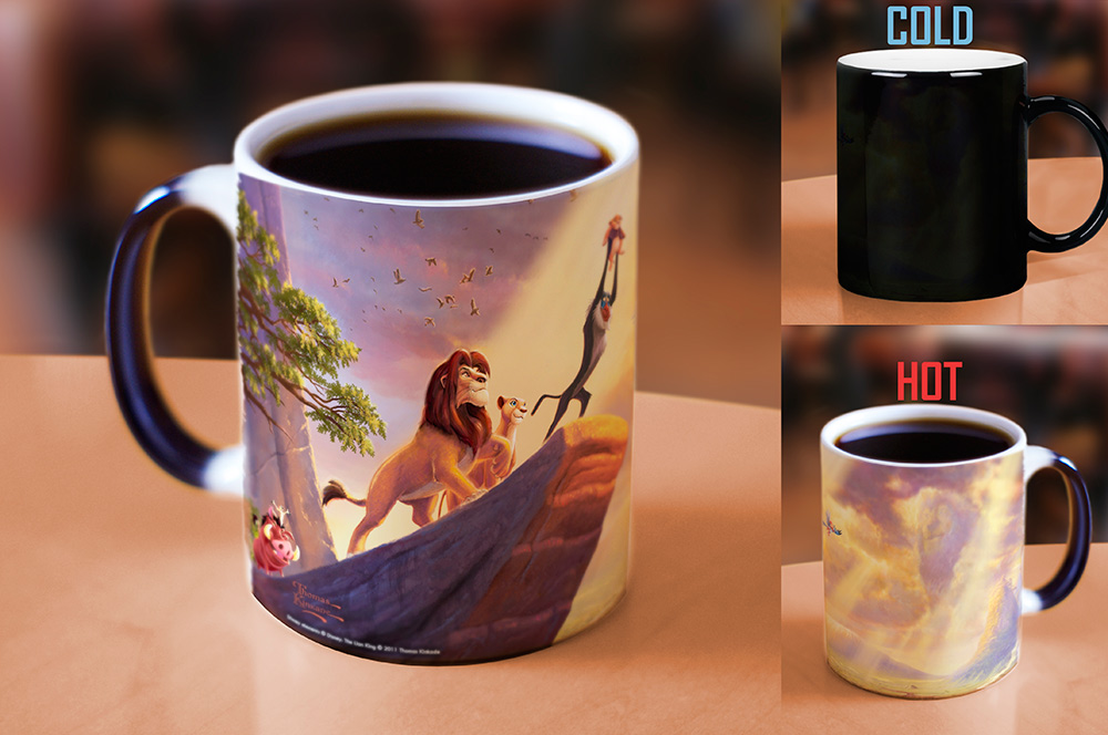 Thomas Kinkade The Lion King Morphing Mugs Heat