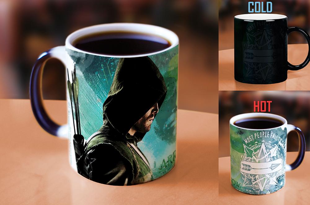Arrow Green Arrow Morphing Mugs Heat Sensitive Mug