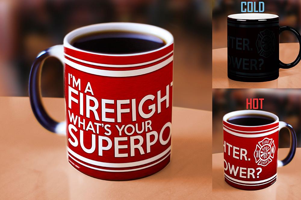 Superpower Firefighter Morphing Mugs Heat Sensitive Mug