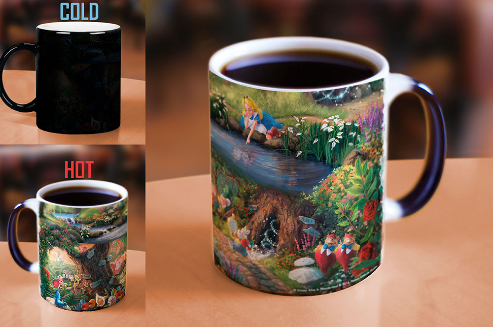 Thomas Kinkade Studios Alice In Wonderland Morphing Mugs