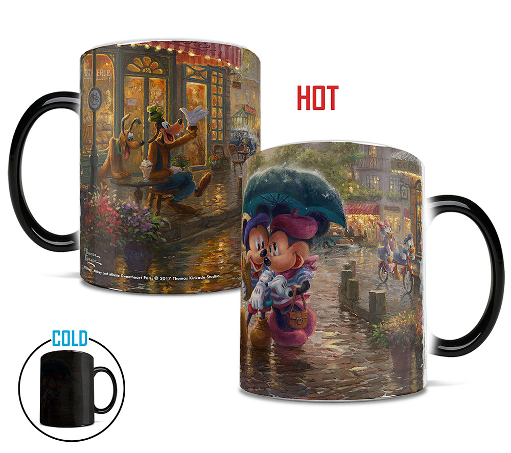 Disney s Mickey and Minnie In Paris Morphing Mugs Heat