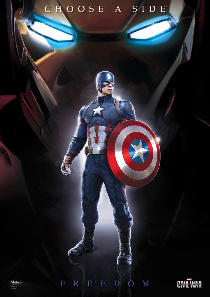 Marvel S Captain America Civil War Team Cap Mightyprint