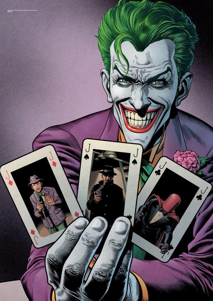 dc comics justice league  joker cards  mightyprint wall art