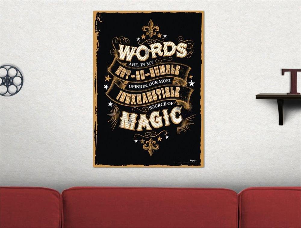 Harry Potter Magic Words Mightyprint Wall Art