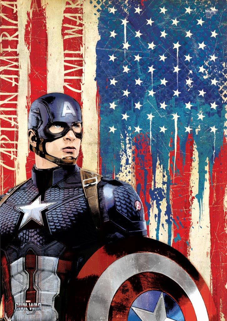 Captain America Wall Art marvel's captain america: civil war (cap) mightyprint wall
