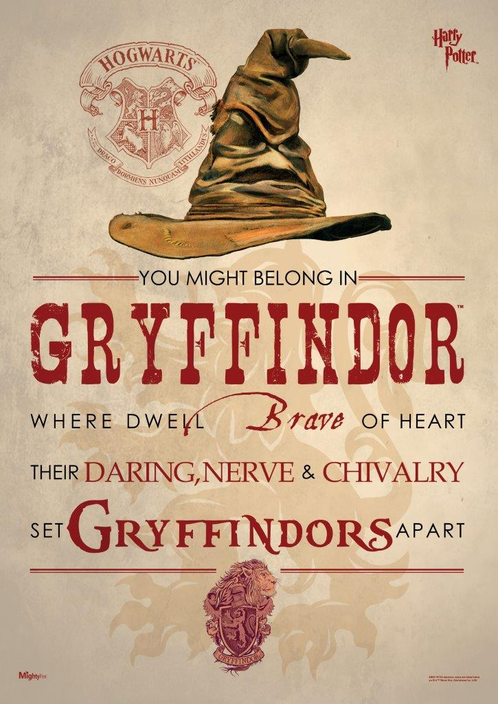 You Might Wanna Sit Down For This: Harry Potter (Sorting Hat Gryffindor) MightyPrint Wall Art