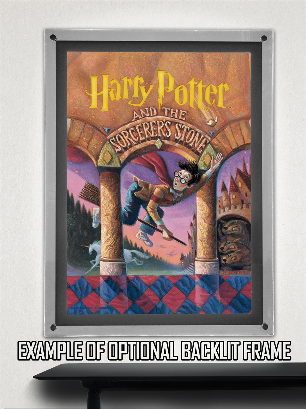 Book Cover Wall Art : Harry potter book cover sorcerers stone mightyprint