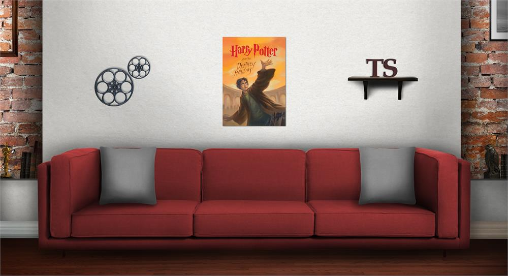 Harry Potter Book Cover Deathly Hallows Mightyprint Wall Art
