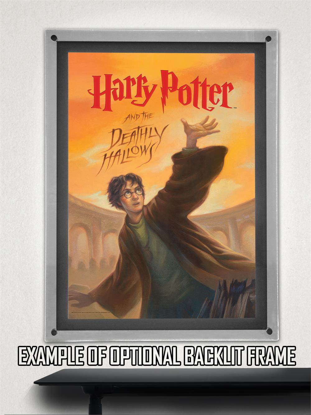 Harry Potter Book Cover Deathly Hallows Mightyprint