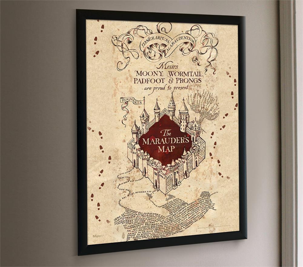 Harry Potter Marauders Map Mightyprint Wall Art Mp17240259