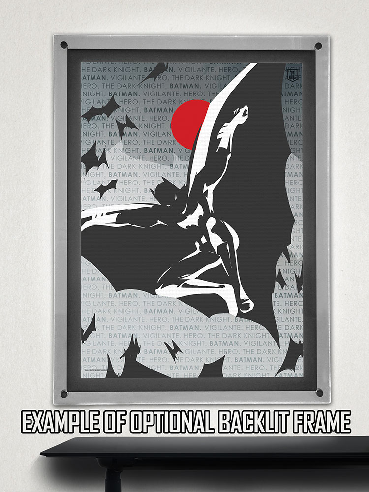 Justice League Batman Words Mightyprint Wall Art Mp17240325