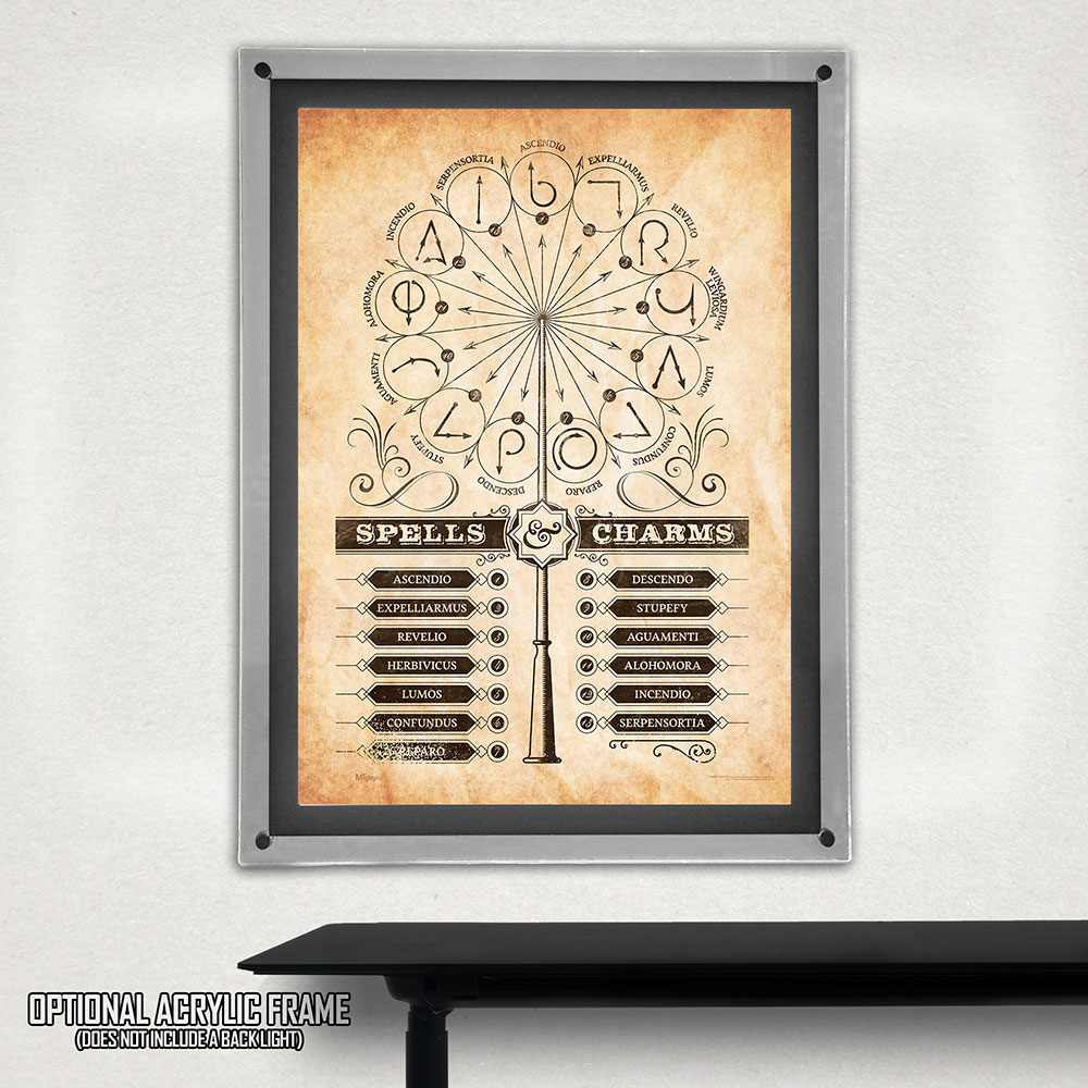 Harry Potter Spells And Charms Mightyprint Wall Art Mp17240359