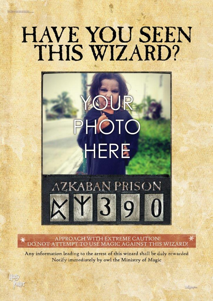 Harry Potter Wanted Wizard Personalized Mightyprint
