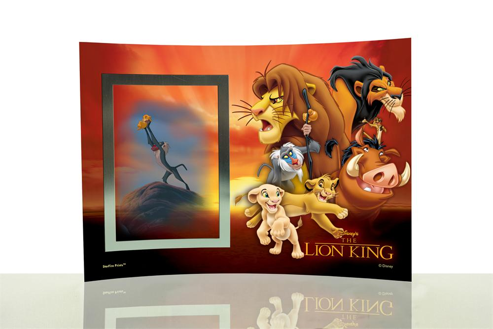 The Lion King Group Collage Starfire Prints Curved Glass