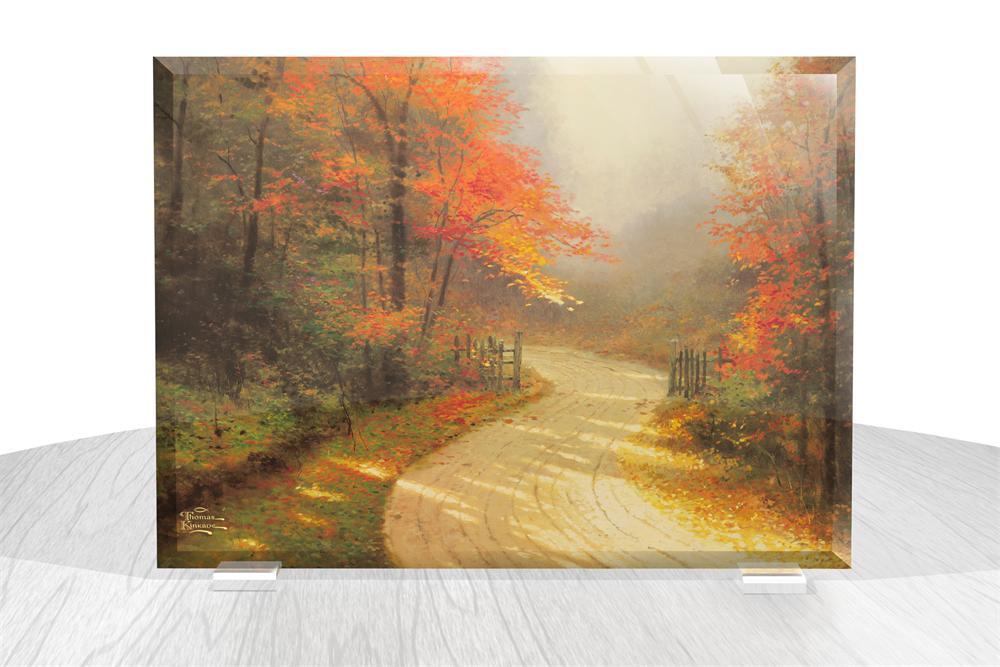 Thomas Kinkade Autumn Lane Starfire Prints Beveled Glass