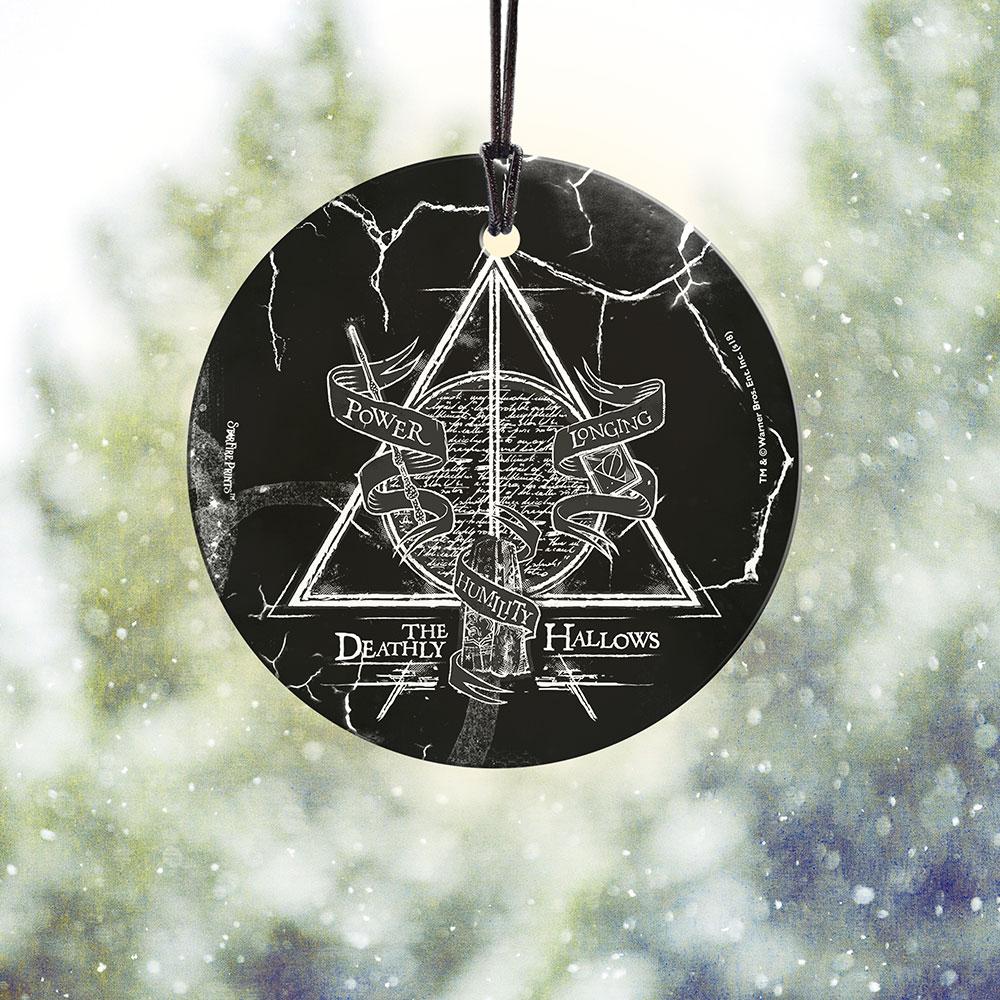 Harry Potter Deathly Hallows Starfire Prints Hanging Glass Spcir894