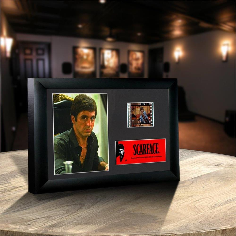 Scarface tony montana authentic 35mm filmcells minicell special sharethis copy and paste jeuxipadfo Images