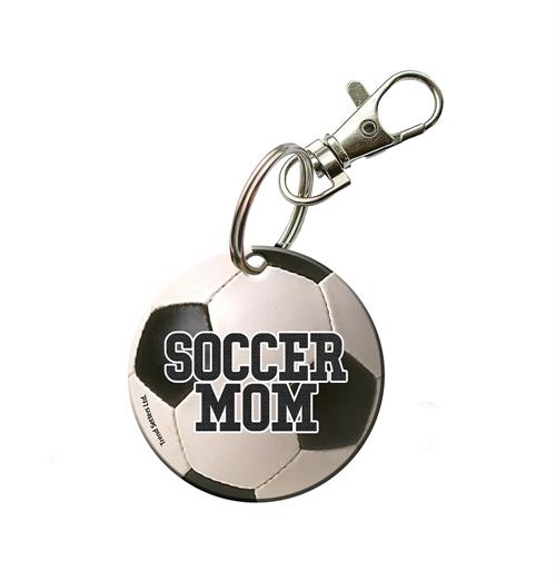 You're always there for their games and show off your pride for your sports star however you can. Now, you can show that you're a proud soccer mom with this acrylic keychain.