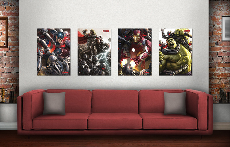 Marvels Avengers Age Of Ultron Set Of 4 Mightyprint