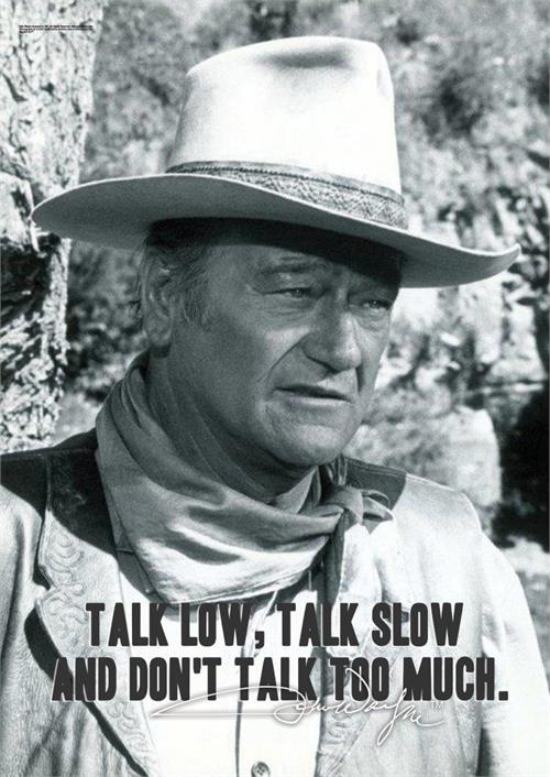 John Wayne (Talk Low and Slow) MightyPrint Wall Art