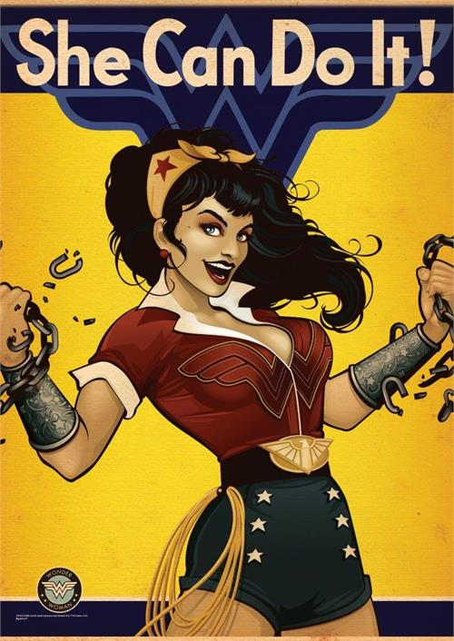 DC Comics Justice League (Bombshell Wonder Woman) MightyPrint Wall Art