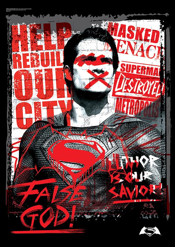 Batman V Superman Dawn Of Justice False God Mightyprint