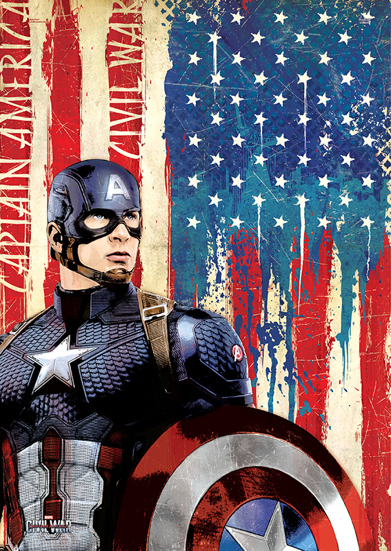 Marvel S Captain America Civil War Cap Mightyprint Wall Art