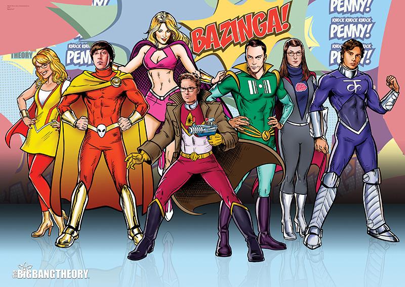 The Big Bang Theory Superpowers Mightyprint Wall Art