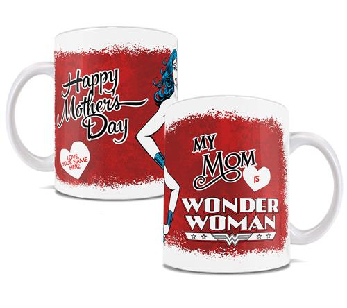 Is your mom practically a superhero? Let her know with this officially licensed DC Comics mug.     Personalize with your name (in the heart) for an extra special touch.