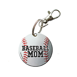 Now, you can show that you're a proud baseball mom with this acrylic keychain. Put this baseball on your keychain, bag, window or wherever you want to display!