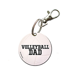 You're always there for their games and show off your pride for your sports star however you can. Now, you can show that you're a proud volleyball dad with this acrylic keychain.