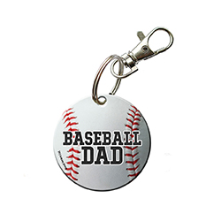 You're always there for their games and show off your pride for your sports star however you can. Now, you can show that you're a proud baseball dad with this acrylic keychain.
