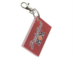 You're always there for their games and show off your pride for your sports star however you can. Now, you can show that you're a proud basketball mom with this rectangular acrylic keychain.