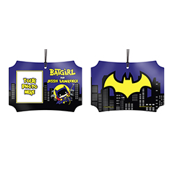 You protect the city at night and make sure justice is upheld. Now, show off to the world that you're Batgirl with this personalized hanging metal decoration. Add your photo and name so that everyone remembers what you're also known as.