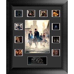 Celebrate the beginning of Fantastic Beasts and Where To Find Them with this limited edition of 2500 framed FilmCells™ presentation. This collectible features an image of Newt Scamander, Porpentina Goldstein, Queenie Goldstein, and Jacob Kowalski.