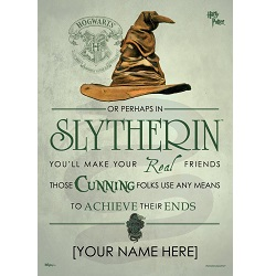 Harry Potter (Sorting Hat Slytherin Personalized) MightyPrint Wall Art
