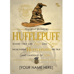 Harry Potter (Sorting Hat Hufflepuff Personalized) MightyPrint Wall Art