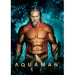 This extra durable, light-catching, long-lasting MightyPrint™ Wall Art features Jason Momoa as Arthur Curry and Aquaman, King of Atlantis.