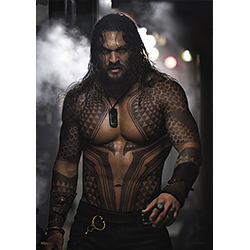 I mean, do you even need a description for this?  Jason Momoa, as Aquaman, gets ready to take on some injustice in this MightyPrint Wall Art. Minus shirt, plus tattoos, sweat, and a furrowed brow.