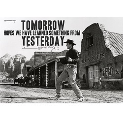 John Wayne (Learn From Yesterday) MightyPrint Wall Art