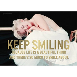 Marilyn Monroe (Keep Smiling) MightyPrint Wall Art
