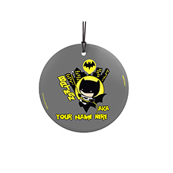 You are the Dark Knight. Now, show off to the world that you're Batman with this personalized hanging glass decoration. Add your name so that everyone remembers what you're also known as.