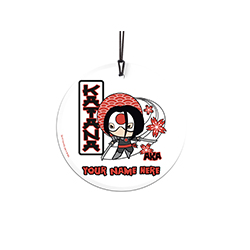 sword. Now, you can show off to the world that you're Katana with this personalized hanging glass decoration. Add your name so that everyone remembers what you're also known as.