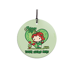 Everyone knows you have the best green thumb in the group. Now, you can show off to the world that you're Poison Ivy with this personalized hanging glass decoration. Add your name