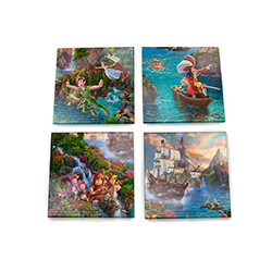 Let Tinkerbell sprinkle you with pixie dust and escape with us to Neverland!  This magical StarFire Prints™ glass coaster set encapsulates Disney's classic animated version of J.M. Barrie's Peter Pan. Beloved characters are represented.