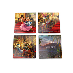 Disney's most beloved Duo celebrates Hollywood success on the red carpet! This set of 4 StarFire Prints™ Glass Coasters features 4 different scenes!
