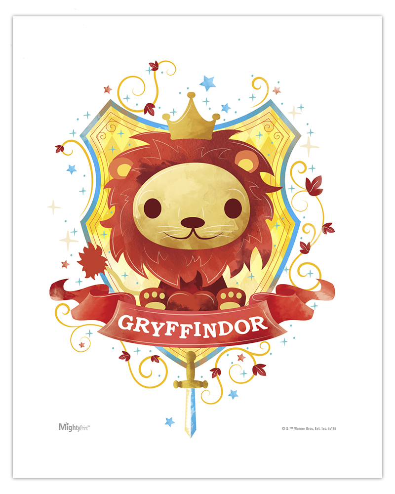 Harry Potter Gryffindor Watercolor Mightyprint Wall Art Mp08100450