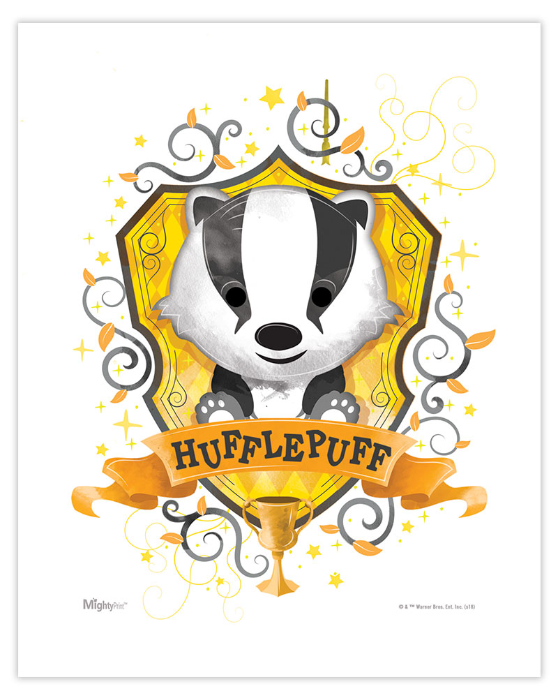 Harry Potter (Hufflepuff Watercolor) MightyPrint Wall Art MP08100453